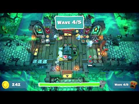 Overcooked 2 Night of the Hangry Horde Level Horde 6 100% 4 Player Co-op |