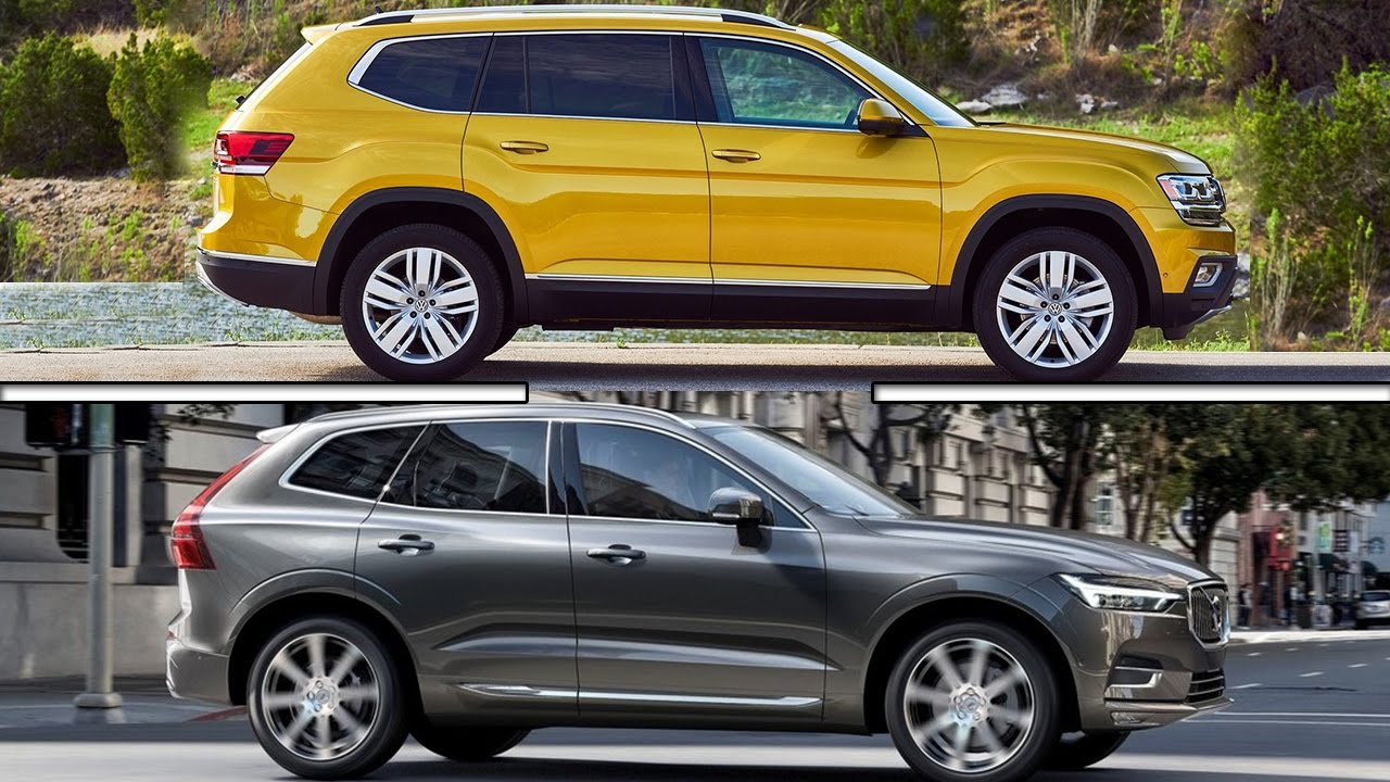 2017 Volkswagen Atlas vs 2017 Volvo XC60 - YouTube