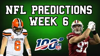 NFL Week 6 Predictions! NFL Week 6 Picks for the 2019 Regular Season! | The Scoreboard #15!