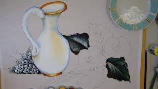 Projeto Pintura em Tecido – Jarra Mais Flores