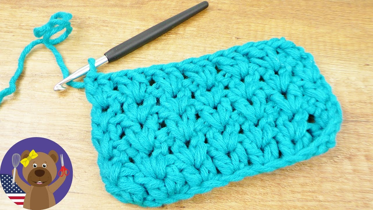 Crocheting Pattern | V-Pattern with Half Treble Crochets | Spring ...