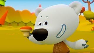 Познавательный мультфильм для детей - Ми-Ми-Мишки - Грибы и листья