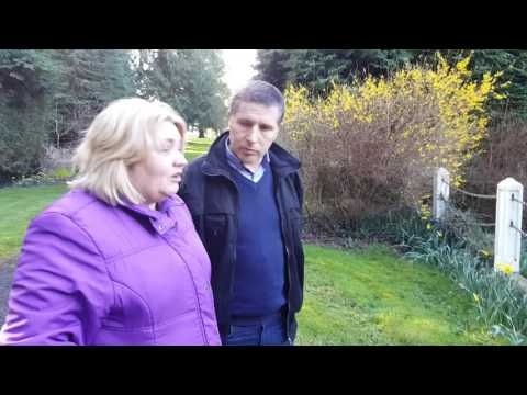 Teresa Collins and Michael Donovan at the Sean Ross Abbey Children's Cemetery