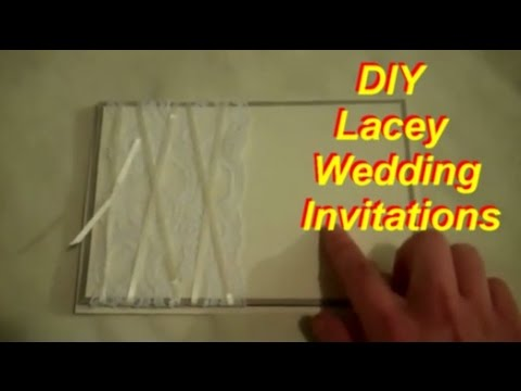 homemade wedding invitations diy wedding invitations with lace 4843