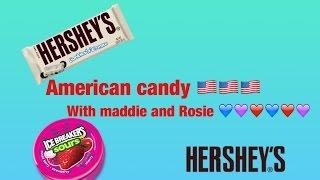 American candy tasting challenge xxxx Rosie , maddie xxx❤️