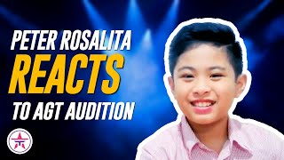 Viral 10-Year Old Filipino Singer Peter Rosalita REACTS To His AGT Audition!
