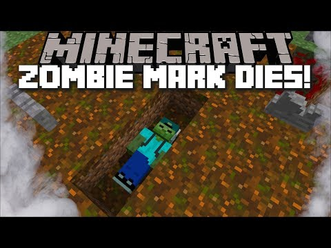 MARK OUR FRIENDLY ZOMBIE DIES AND COMES BACK TO LIFE TO HAUNT US!! HAUNTED HOUSE!! Minecraft Mods
