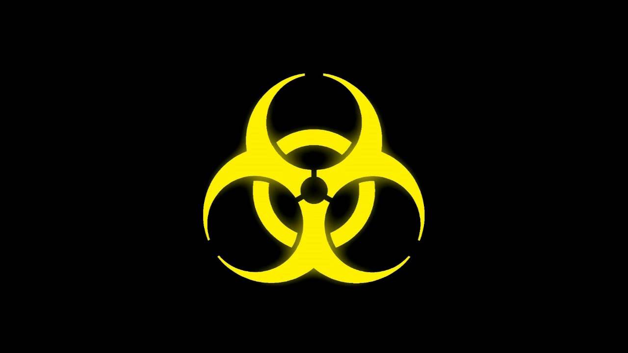 Glowing biohazard symbol yellow youtube biocorpaavc Image collections