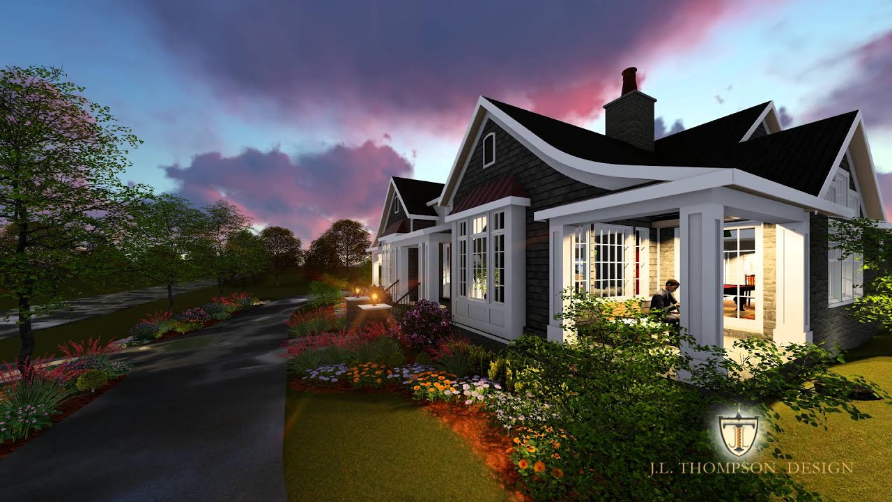Cape cod style custom home design youtube for Custom cape cod house plans