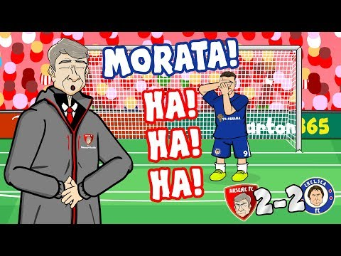 😂MORATA! HA! HA! HA!😂 (Arsenal vs Chelsea 2-2 Parody 2018 Goals Highlights Misses)