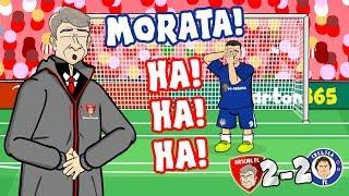 😂MORATA! HA! HA! HA!😂 (Arsenal vs Chelsea 2-2 Parody 2018 Goals Highlights Misses)