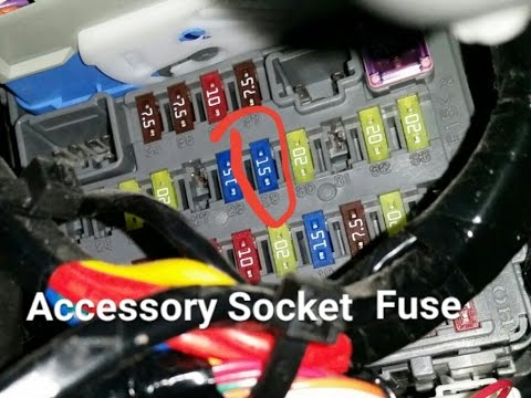 honda crv fuse replacement  accessory power socket