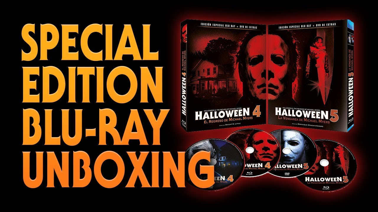 Halloween 5 Blu Ray.Halloween 4 And 5 Special Edition Blu Ray Unboxing Awesome Artwork