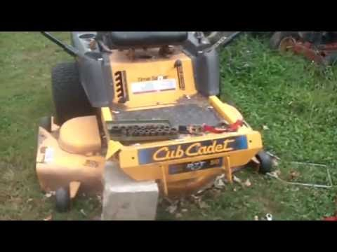 Cub Cadet, RZT 50, Zero Turn mower, broken Front axle pivot support