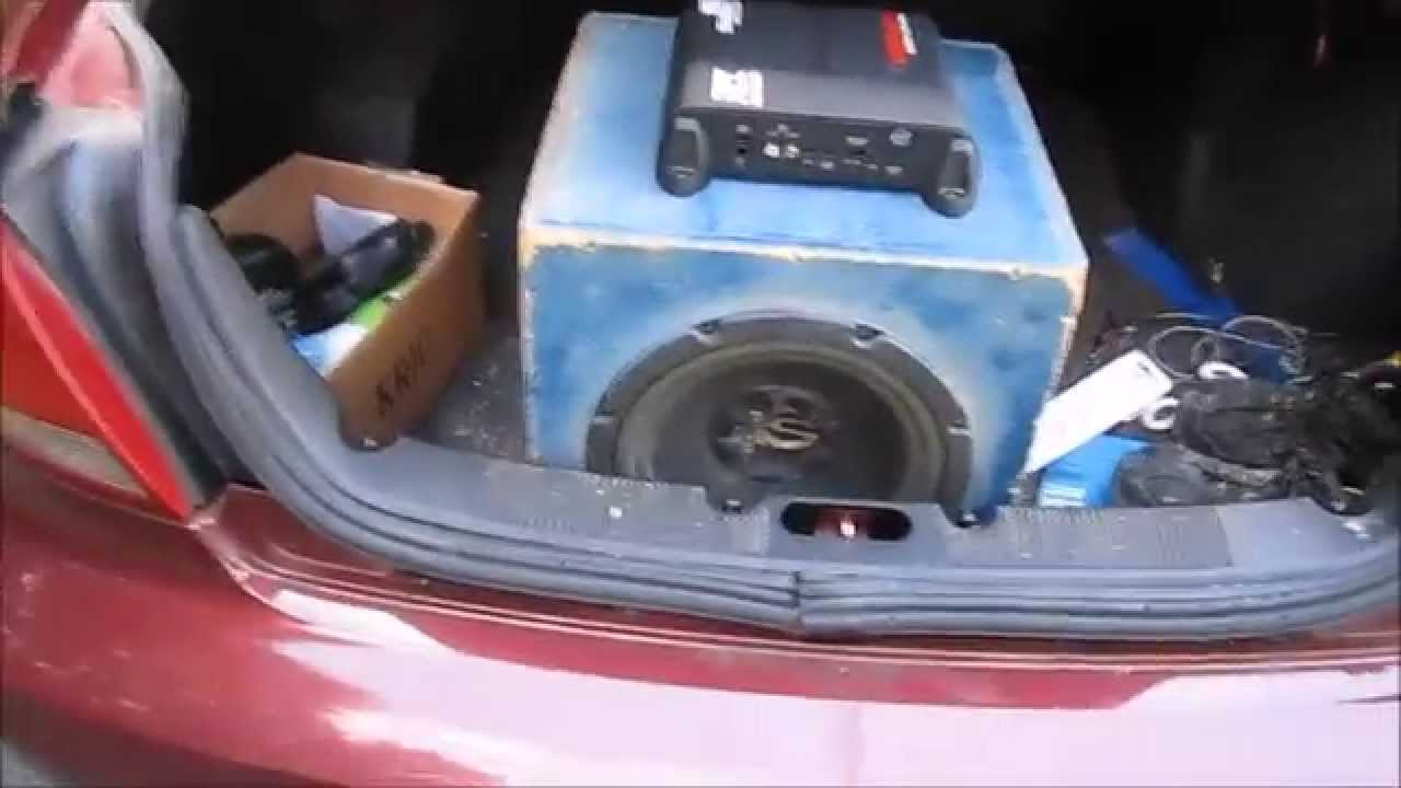 Subwoofer Install In The Taurus Youtube Wiring Diagram 1998 Ford Sho