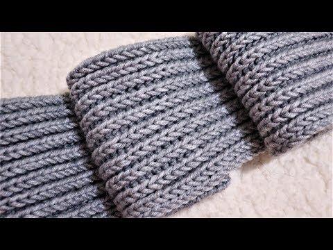 Как вязать спицами шарф мужской