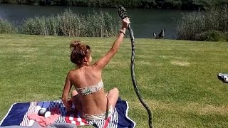 How Video of Sunbather Catching King Cobra Attacking Could Be Fake thumbnail