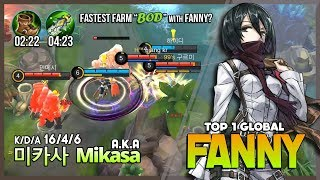 "Mikasa Take Back His Throne! ""Miss Me Guys?"" 미카사 a.k.a Mikasa Top 1 Global Fanny ~ Mobile Legends"