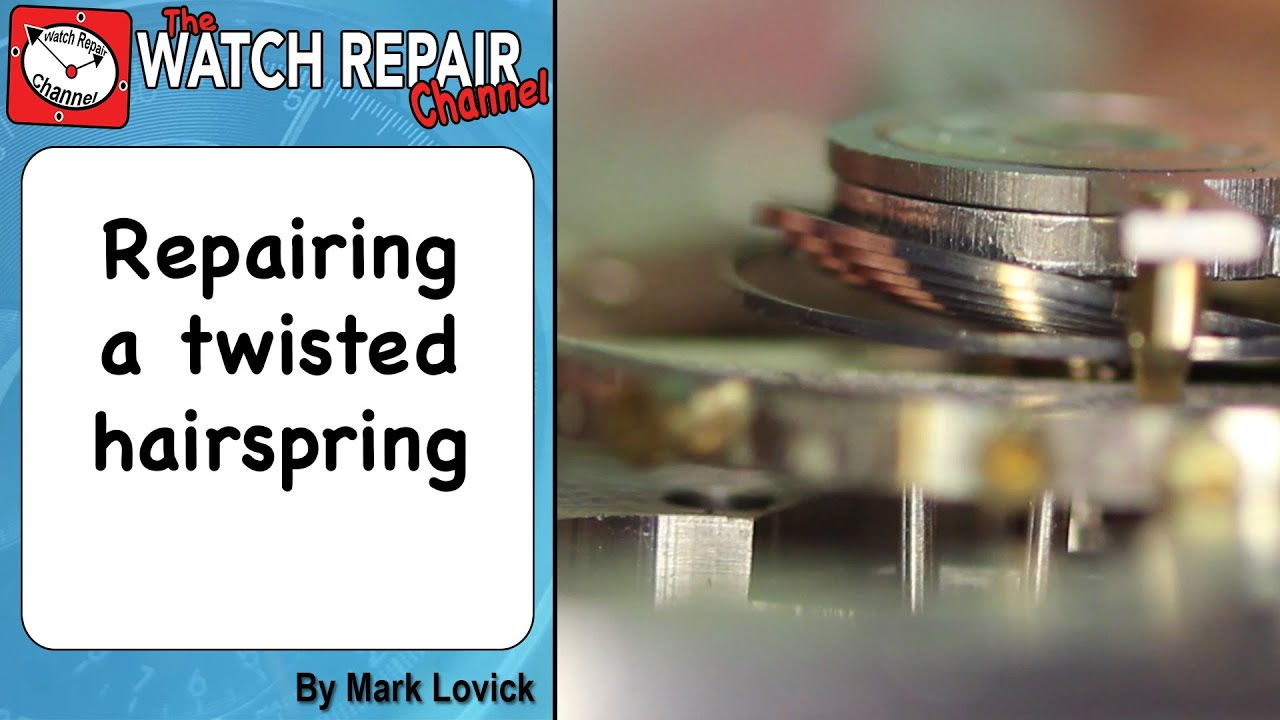 how to become a watch repairer