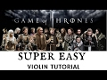LEARN TO PLAY VIOLIN IN 5 MINUTES   GAME OF THRONES   EASIEST EVER TUTORIAL