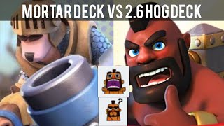 Clash Royale #62 [技巧] Mortar Prince deck vs 2.6 elixir hog cycle deck