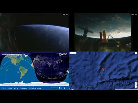 Sunrise Over Pacific - ISS Space Station Earth View LIVE NASA/ESA Cameras And Map - 83