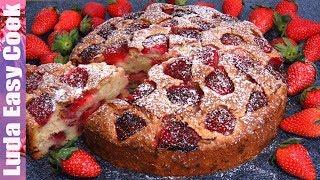 Клубничный пирог на День ПОБЕДЫ! Дачный пирог с клубникой Очень Вкусно | Best Strawberry Cake Recipe