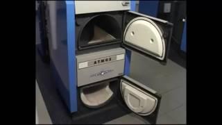 Видео обзор производство пиролизных котлов отопления на дровах и угле Atmos (Атмос)(Твердотопливные пиролизные отопительные котлы Atmos (Атмос), 2017-01-20T14:30:33.000Z)