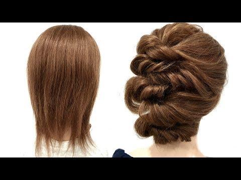 Прическа на Короткие волосы Только из Резинок. Быстрая Прическа. Quick Hairstyle for Short Hair thumbnail