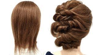 Прическа на Короткие волосы Только из Резинок. Быстрая Прическа. Quick Hairstyle for Short Hair