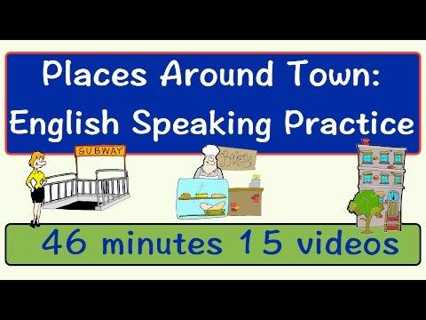 Places Around Town | English Speaking Practice | ESL | EFL