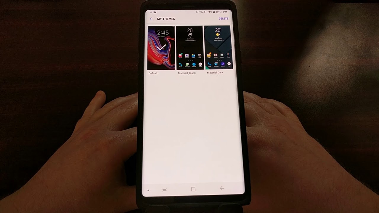 How to Apply a Samsung Theme to the Galaxy Note 9   Android