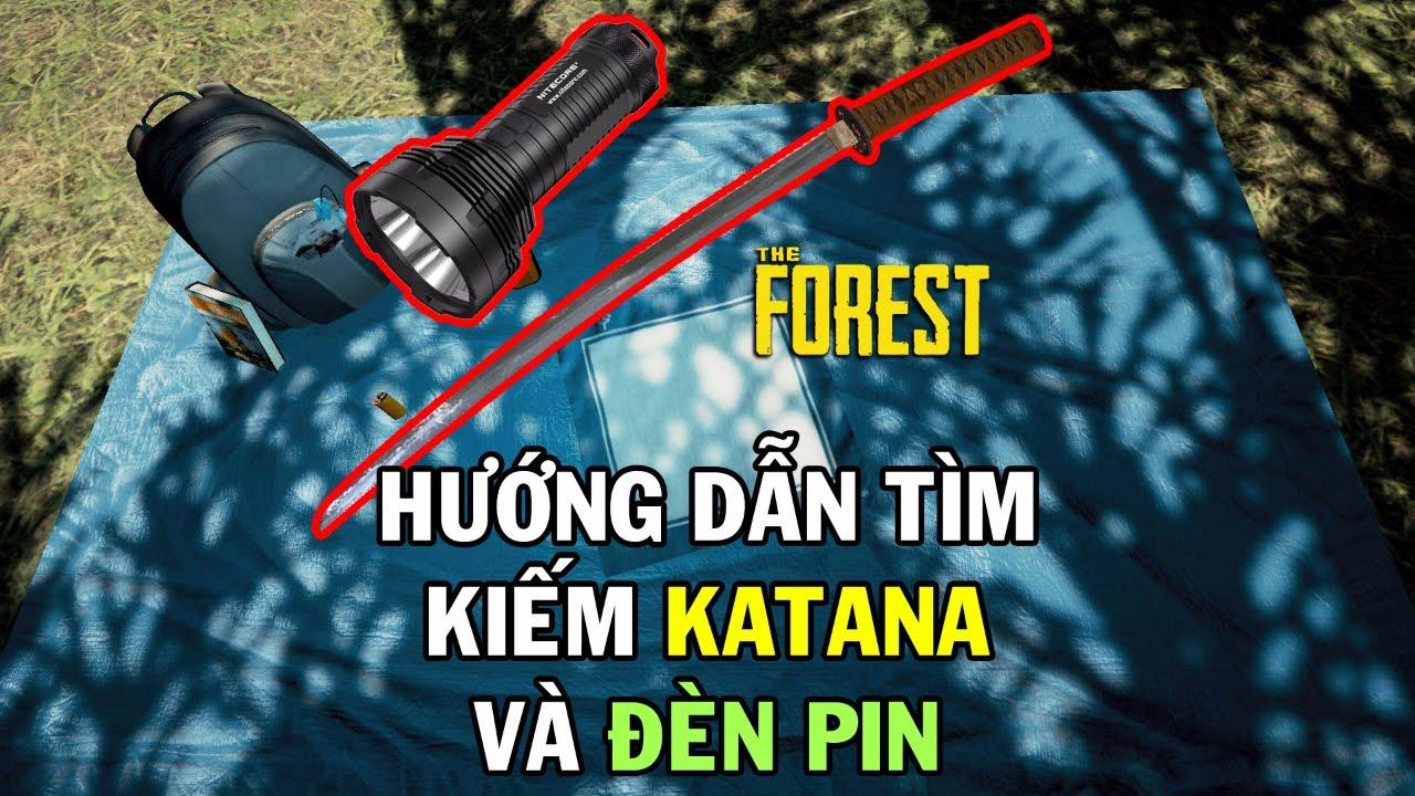 Hướng dẫn đường đi lấy kiếm katana và đèn pin trong The Forest