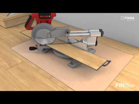 Finfloor c mo instalar suelo laminado en escaleras youtube for Como instalar suelo laminado