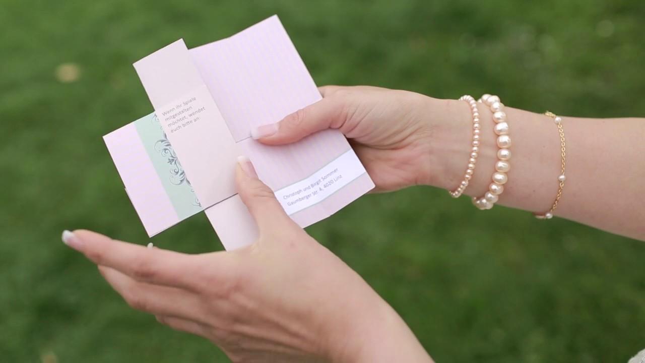 Hochzeitseinladung Mal Anders Crazy Flip Cards Youtube