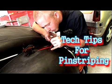How To Freehand Pinstripe! Pinstriping For Beginners