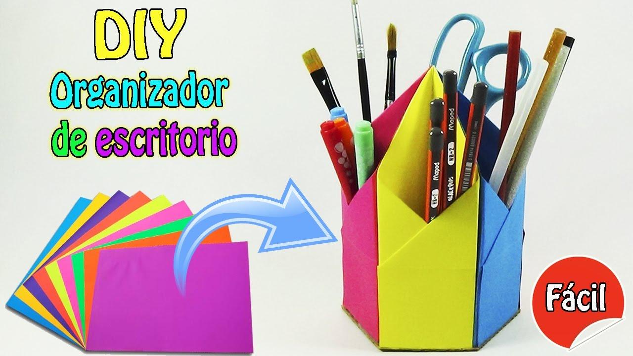 e829c33148e0e DIY Organizador de escritorio - Origami Fácil - Ecobrisa DIY - YouTube