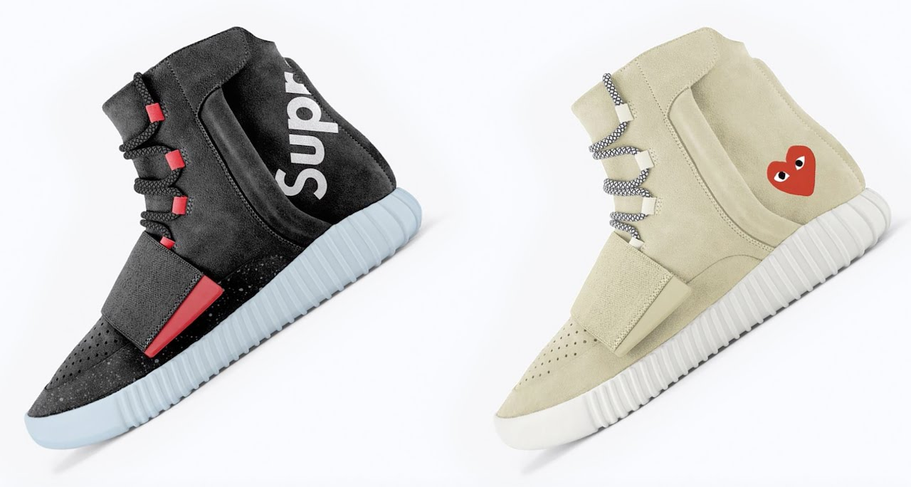 What If Supreme And Other High End Brands Made Adidas Yeezy Boost 750 Collabs