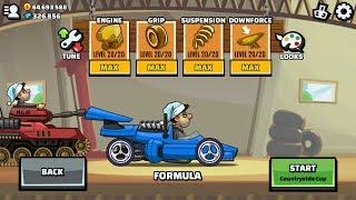 Hill Climb Racing 2 Formula Maxed Engine Grip Suspension Downforce