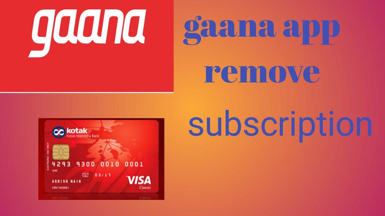Gaana app subscription remove kese kare - YouTube