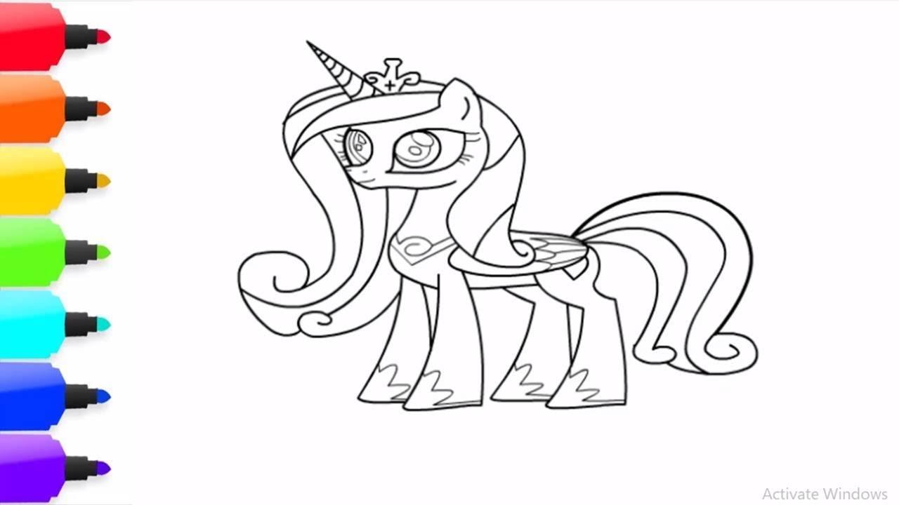 Belajar Menggambar Dan Mewarnai Kuda Poni Pinky Cantik Youtube