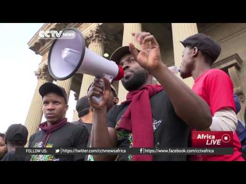 South Africa university students demand fee reduction
