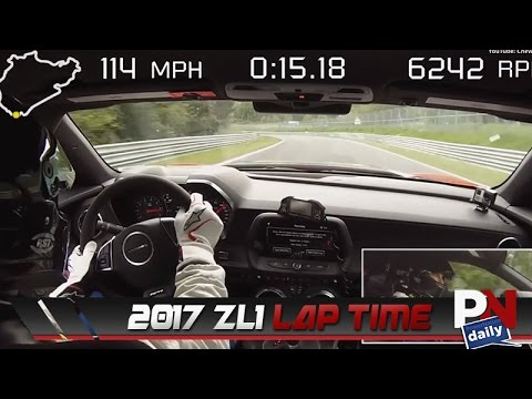 Chevy Beats The Previous Camaro's Lap Time With The 2017 ZL1
