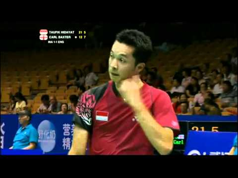 Group (Day 2) - Indonesia (T.Hidayat) vs England (C.Baxter) - Thomas Cup 2012