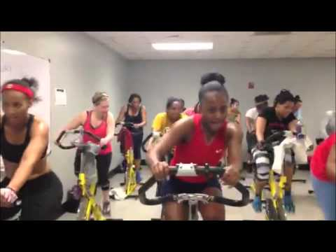 Cycling with KTX Fitness for Atlanta Magazine