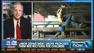 Sen. Moran on Fox News to Discuss Withdrawal of DOL Youth Farm Labor Rule