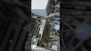 Результат чистки от пыли компьютера/сервера. До и после