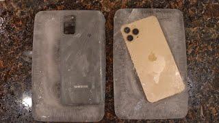 Samsung Galaxy S20 Plus vs iPhone 11 Pro FREEZE TEST! OMG ❄️📲
