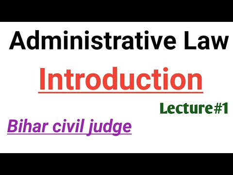 Introduction of administrative Law- leacture#1 by Target for
