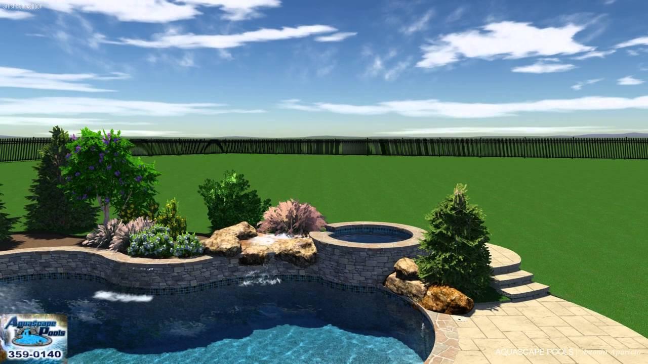 Orme pool studio 3d aquascape pools design youtube for Pool show okc